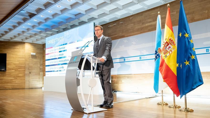 Feijóo, en su discurso a los altos cargos de la Xunta, el pasado 20 de junio