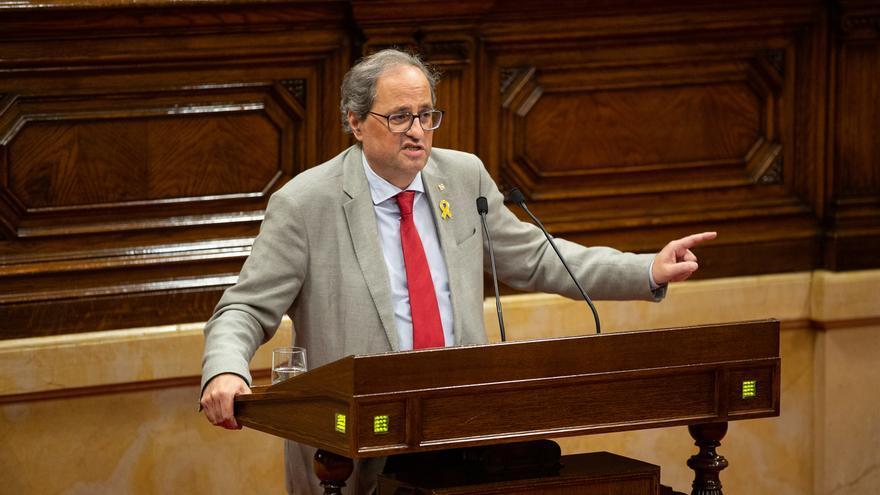 La JEC multa a Torra con 5.500 euros por lanzar mensajes en favor de los políticos presos durante la campaña electoral