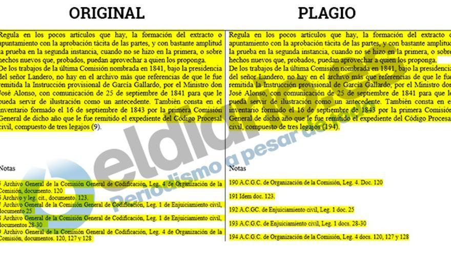 Pequeños cambios en las notas al pie de página de Fernando Suárez.