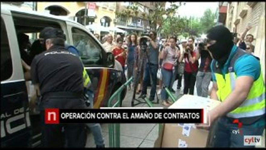 Captura de un vídeo de Televisión de Castilla y León sobre la Operación Enredadera, en la que fue detenido su copropietario José Luis Ulibarri.