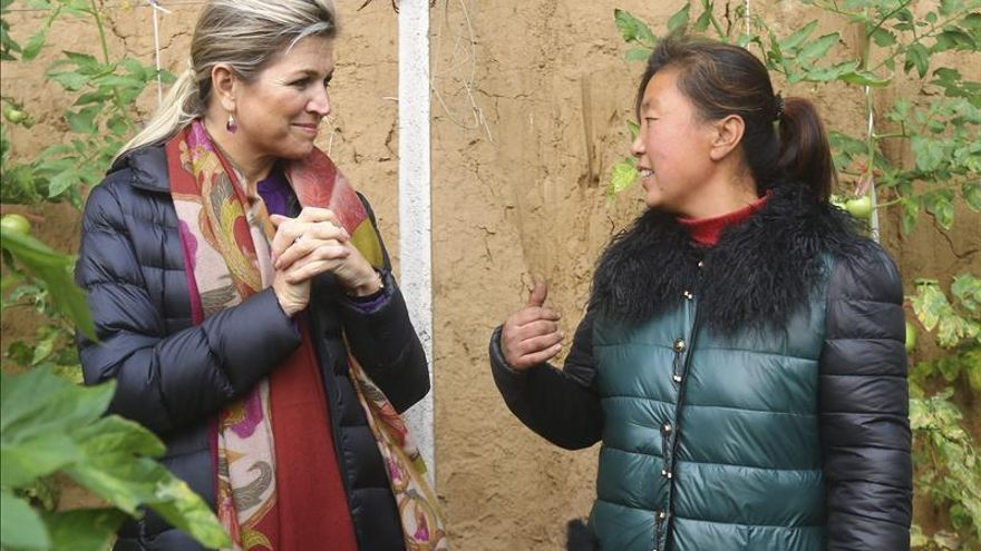 La reina Máxima de Holanda apoya a las pequeñas empresas en su visita a China