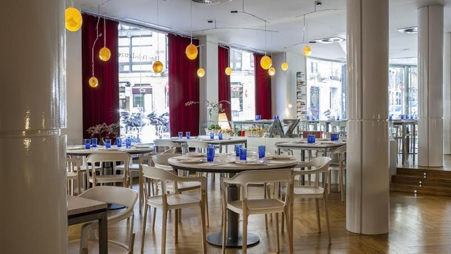 Sala del restaurante 'Al Plato', Madrid