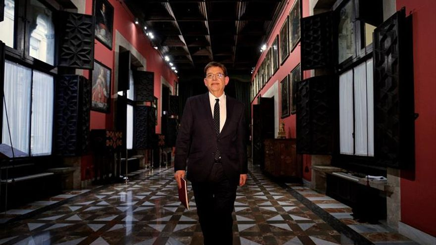 El president de la Generalitat, Ximo Puig, al Palau