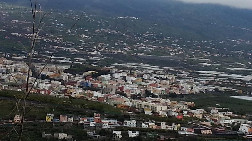 Vista aérea de Los Llanos de Aridane.