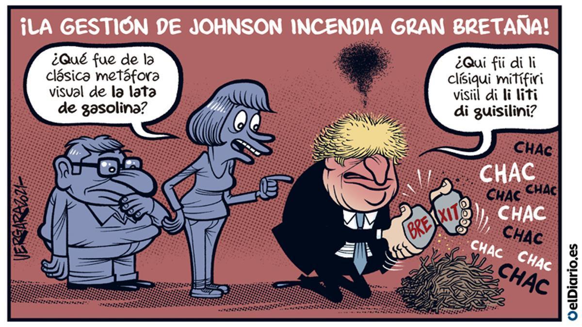 Boris incendia Gran Bretaña