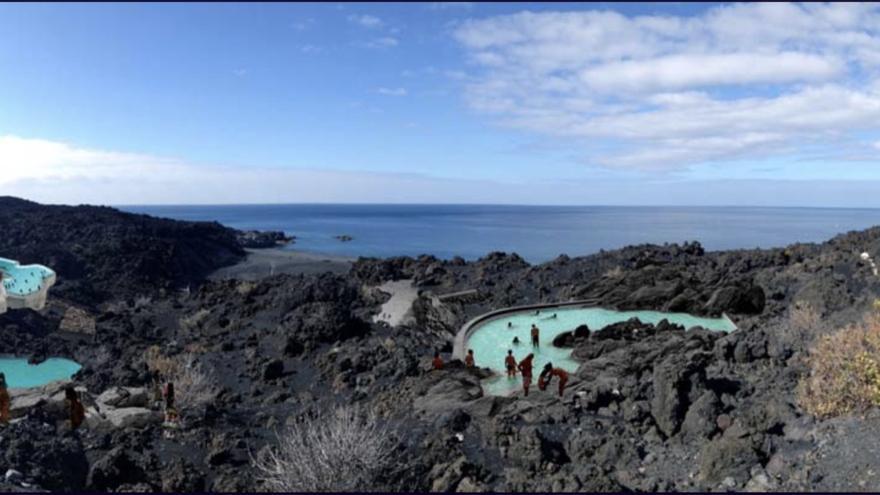 En la imagen, recreación del balneario de Fuente Santa.