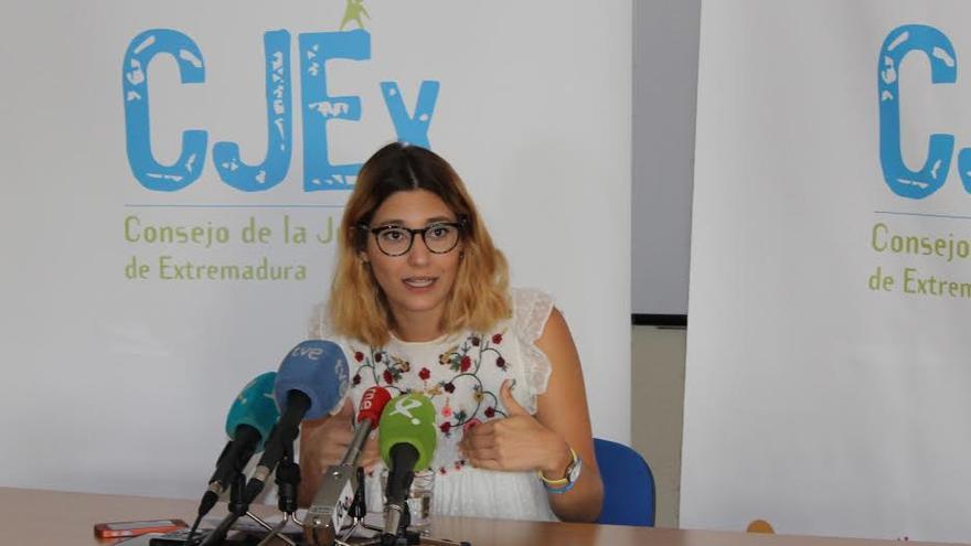 Elena Ruiz, presidenta del Consejo de la Juventud de Extremadura