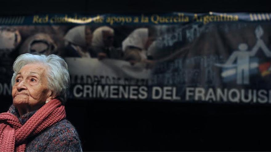 Ascensión Mendieta, la hija del republicano represaliado cuya exhumación ha denegado la justicia española. /lacomunapresxsdelfranquismo.org