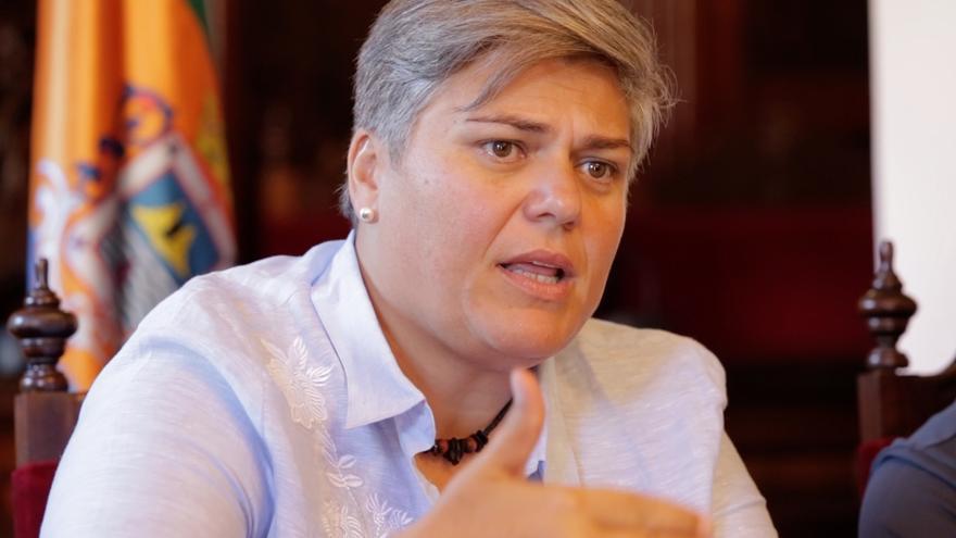Noelia García, alcaldesa del Ayuntamiento de Los Llanos de Aridane.