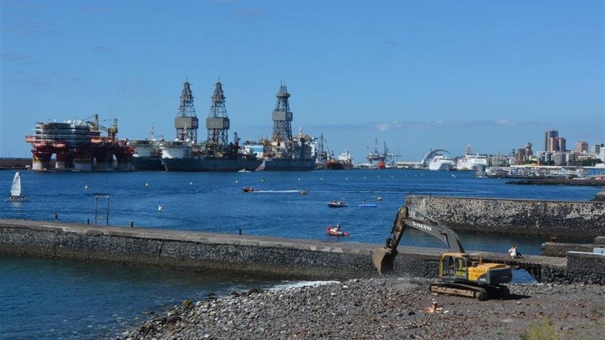 Zona portuaria en que se actuará para hacer la nueva zona de baño de la capital