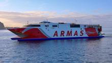 Un buque de Naviera Armas