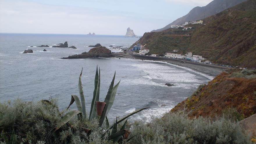 Roque de Ls Bodegas, uno de los tres núcleos salvados del deslinde de Costas./T.I.