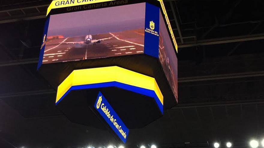 Videomarcador del Gran Canaria Arena.