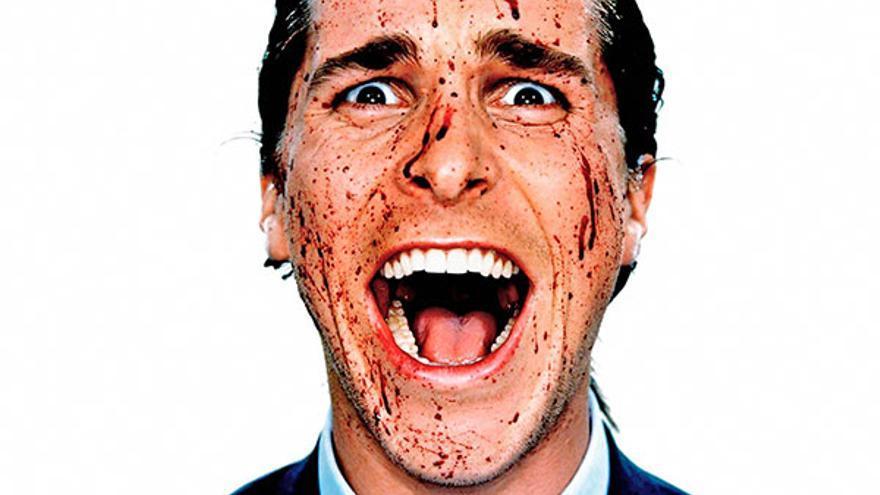 Imagen promocional de la película American Psycho, cuyo protagonista es uno de los psicópatas más famosos del cine