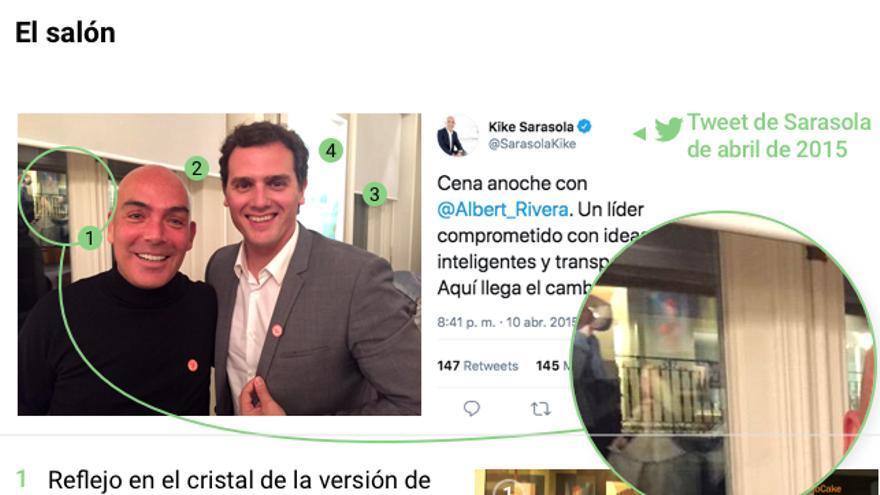 Salón del apartamento de Kike Sarasola cedido a Albert Rivera