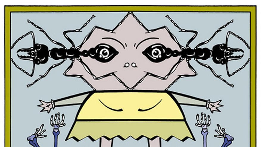 Uno de los trabajos de Micharmut incluidos en el libro 'Solo para moscas'.