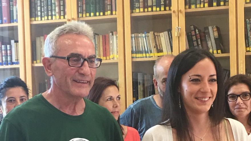 Diego Cañamero con Isabel Franco.
