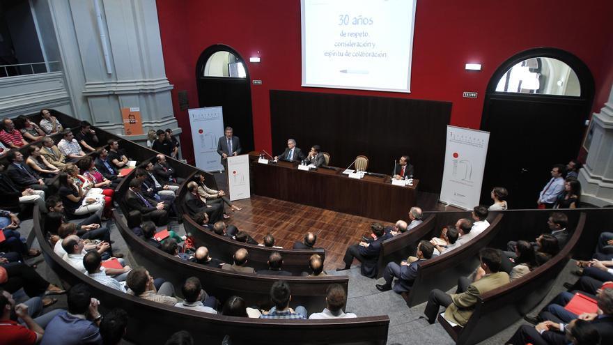 Acto en el Aula Magna de la Universidad de Zaragoza. Imagen de Unizar.