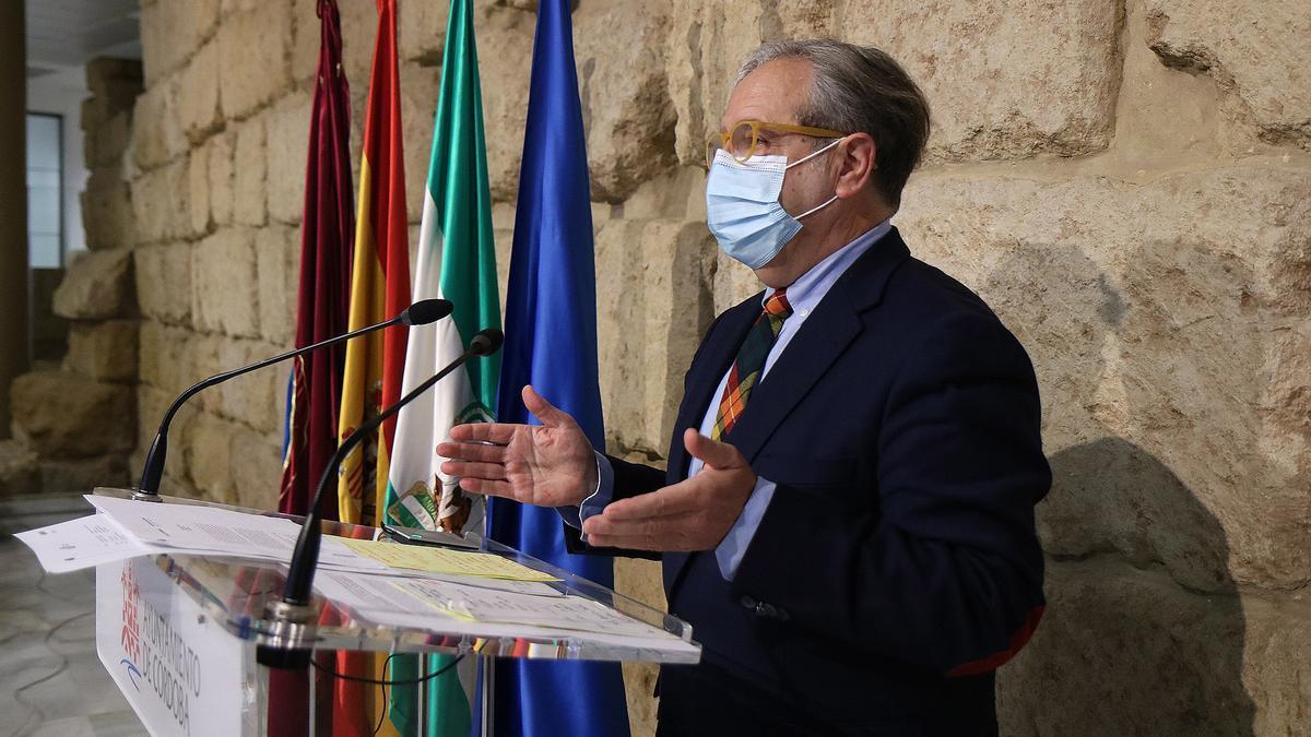 Salvador Fuentes, en el Ayuntamiento.