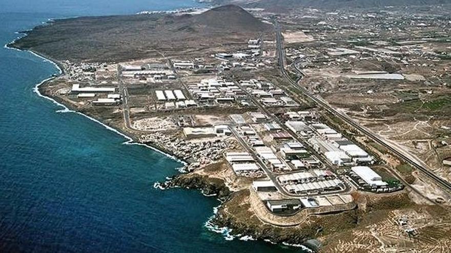 Imagen aérea del polígono industrial de Güímar