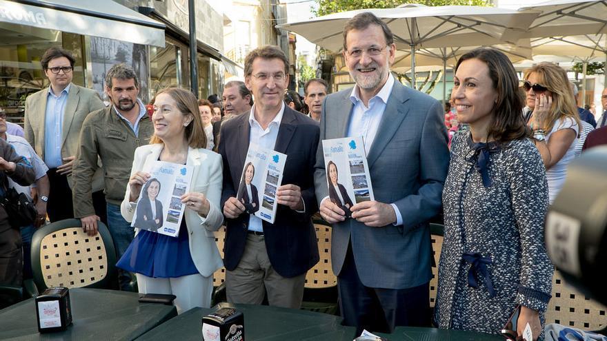 Feijóo, con Rajoy el pasado viernes en Marín (Pontevedra) / PP