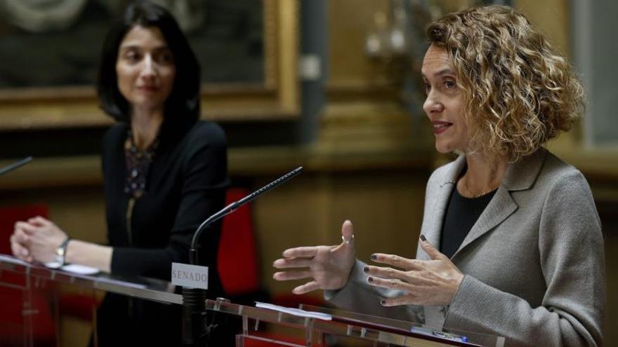 Pilar Llop y Meritxell Batet, presidentas del Senado y del Congreso.
