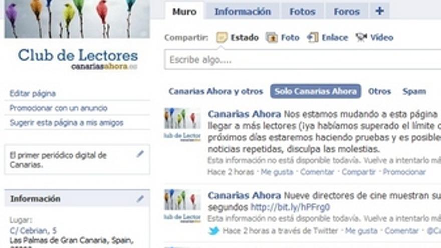 Nueva página pública de Facebook de CANARIAS AHORA.