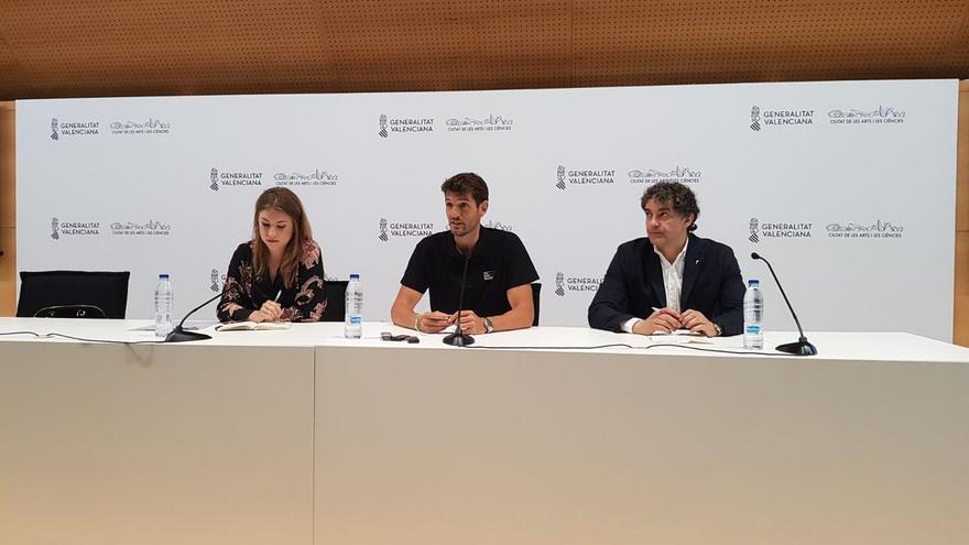 María Such, David Sánchez y Francesc Colomer en la presentación del Festival de les Arts