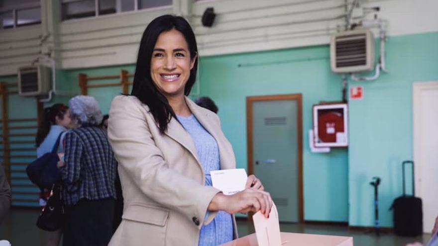 Begoña Villacís, el día de votación de las elecciones generales | CIUDADANOS