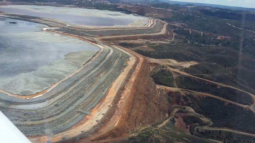 Estado de la balsa de lodos de la mina de Riotinto en mayo de 2018 / EA