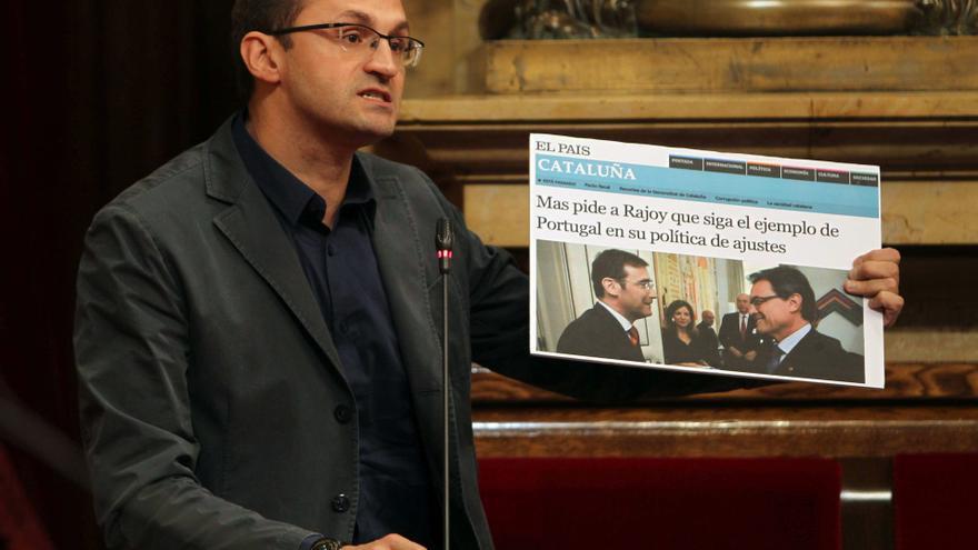 """Herrera (ICV) afirma que el derecho a decidir es de toda Cataluña, """"los recortes son de CiU"""""""