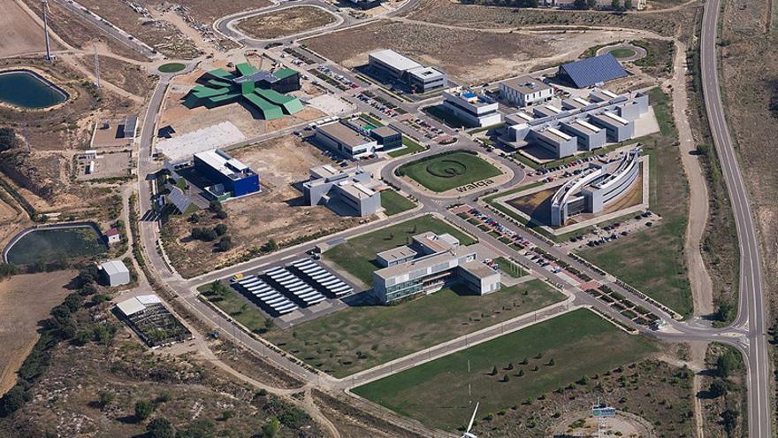 Vista aérea del parque tecnológico aragonés. Foto: Walqa