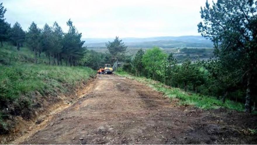 Tramo del Camino en A Fonsagrada (Lugo), donde la Xunta ha realizado obras