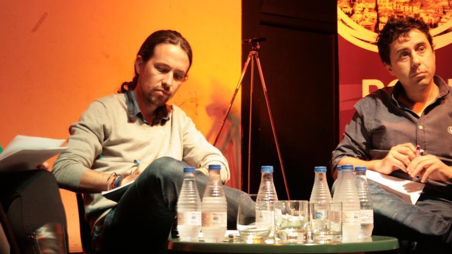 Pablo Iglesias en la presentación de Podemos en Toledo