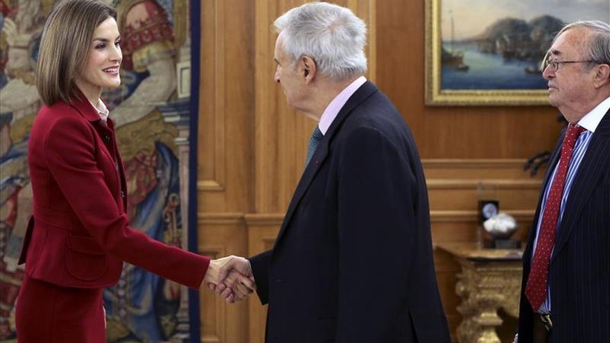 La Reina Letizia recibe a la Fundación César Egido Serrano