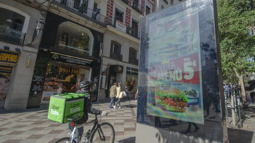 Marquesina calle Montera Burguer King Uber Eats