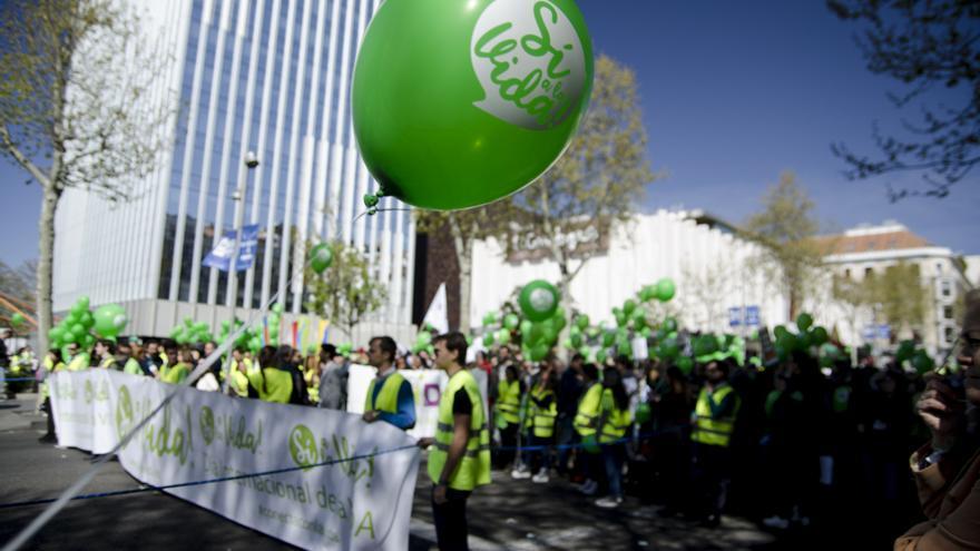 Manifestantes antiaborto este domingo en Madrid