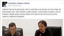 """Una """"mala expresión"""", pide perdón y a olvidar que un concejal del PP reclame un tiro en la nuca a Pablo Iglesias"""