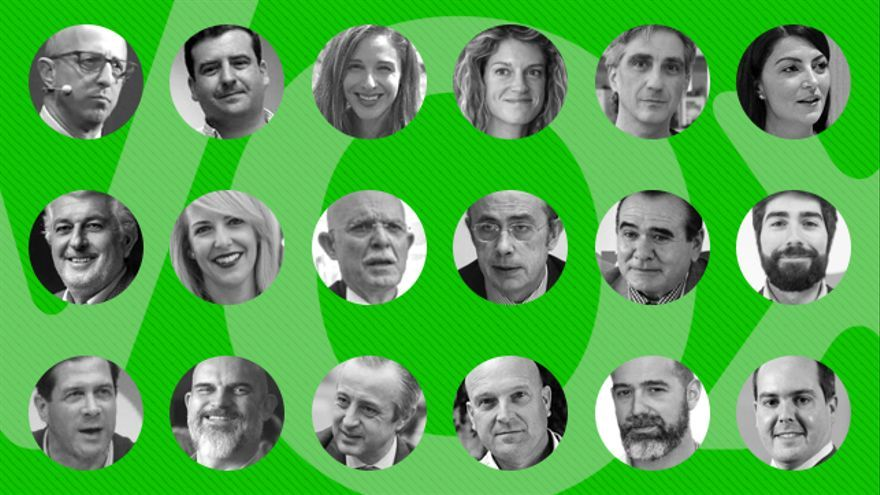 Imágenes de algunos de los cabeza de lista de Vox al Congreso y al Senado