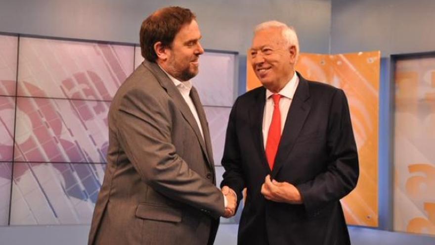 Junqueras y García-Margallo, durante el debate / 8aldía