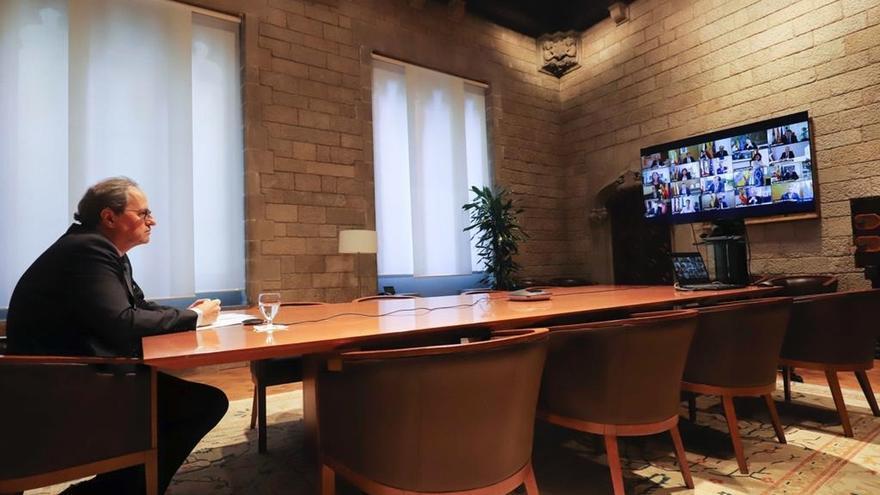 Torra encabeza un Consejo Ejecutivo por videoconferencia
