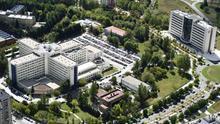 Vista aérea del complejo hospitalario de Txagorritxu