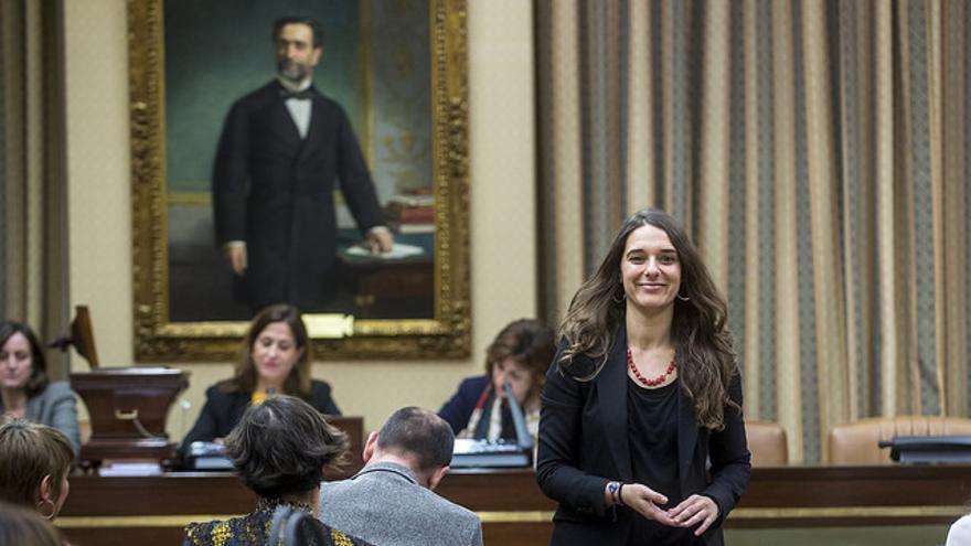 La diputada de Podemos por Cádiz, Noelia Vera, en el Congreso.