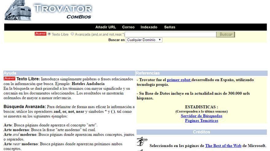 Los términos de las búsquedas podían relacionarse con los operadores 'and', 'or', 'not' y 'near'