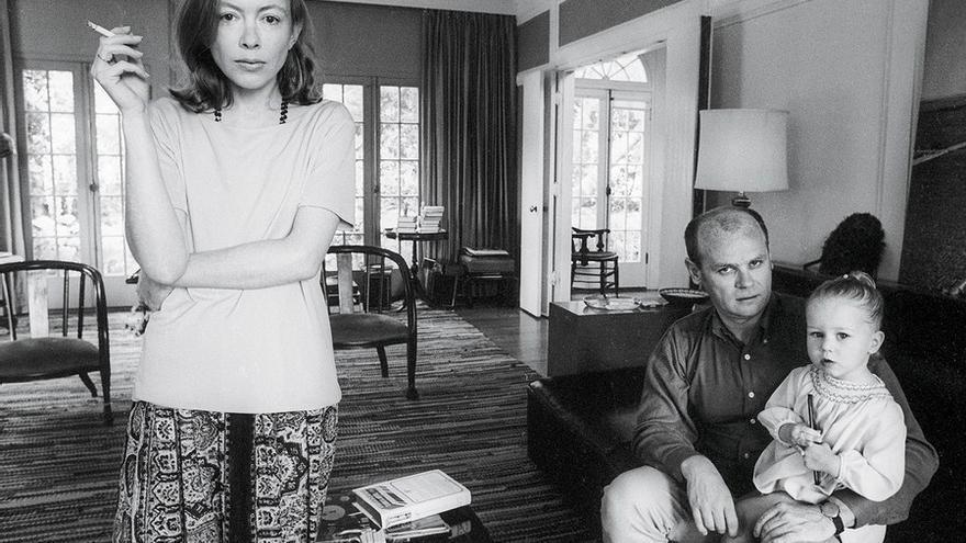 Joan Didion, su marido John Gregory Dunne y su hija, Quintana