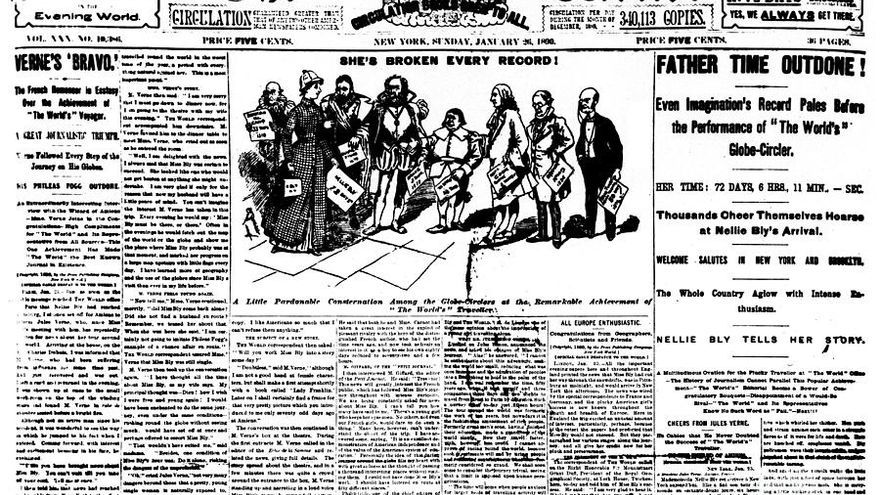 Portada de The World, 26 de enero de 1890