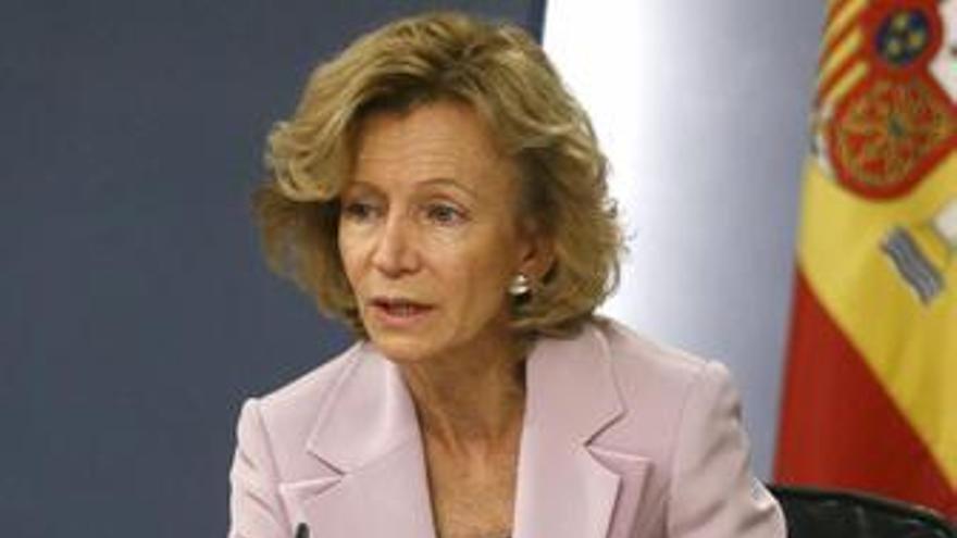 RDP de Elena Salgado tras el Consejo de Ministros