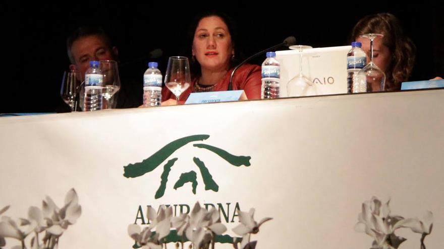María Dolores Padilla, en las XIX Jornadas de la Asociación de Municipios y Parques Nacionales.