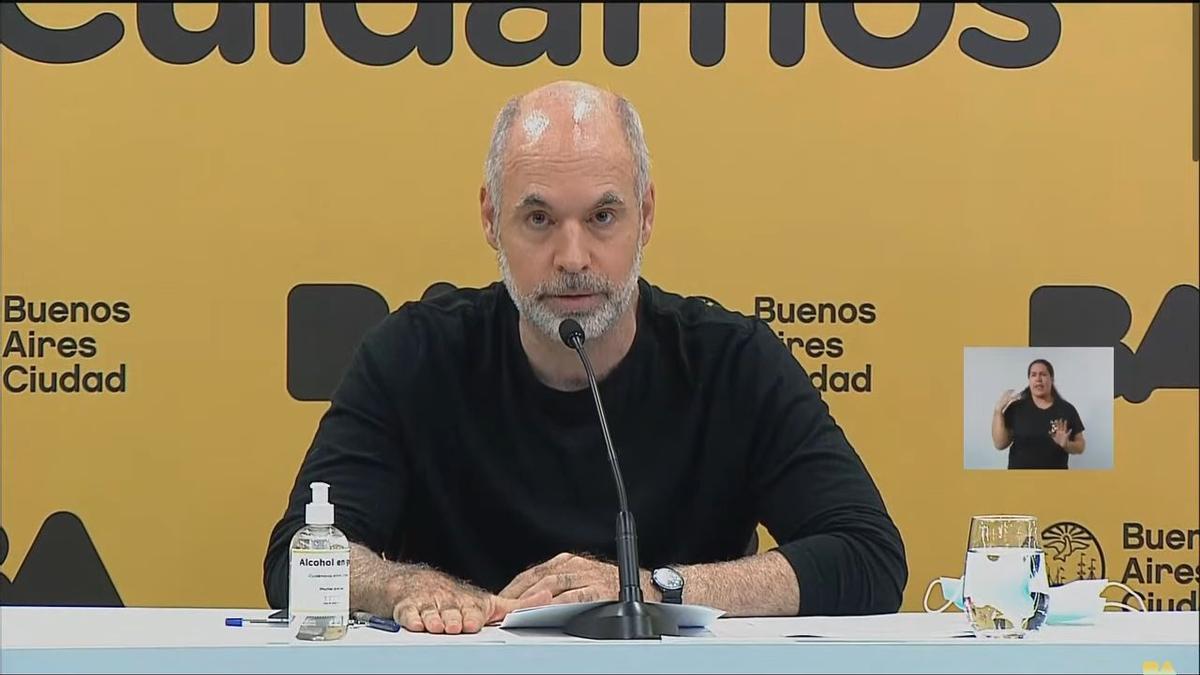 Rodríguez Larreta anunció que este lunes habrá clases en CABA