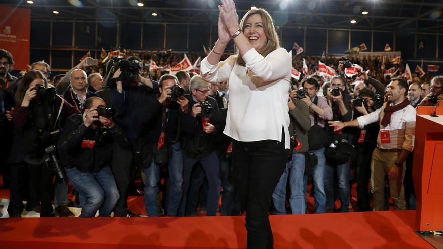 Susana Díaz, en el acto de presentación de su candidatura en Madrid, el pasado 26 de marzo.